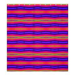Bright Pink Purple Lines Stripes Shower Curtain 66  x 72  (Large)