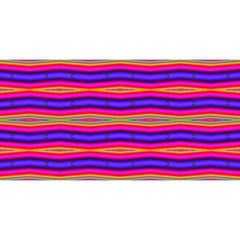 Bright Pink Purple Lines Stripes YOU ARE INVITED 3D Greeting Card (8x4)