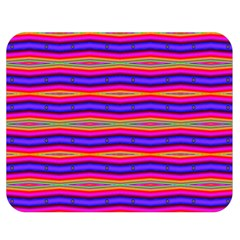 Bright Pink Purple Lines Stripes Double Sided Flano Blanket (medium)