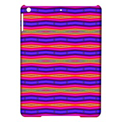 Bright Pink Purple Lines Stripes iPad Air Hardshell Cases