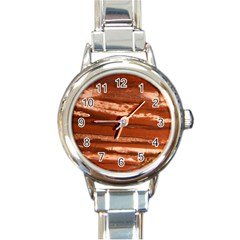 Red Earth Natural Round Italian Charm Watch