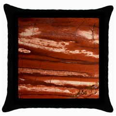Red Earth Natural Throw Pillow Case (Black)