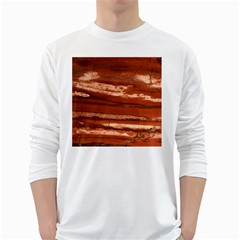 Red Earth Natural White Long Sleeve T-Shirts