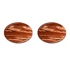 Red Earth Natural Cufflinks (Oval)