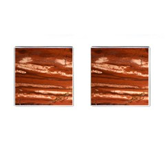 Red Earth Natural Cufflinks (Square)