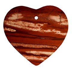 Red Earth Natural Heart Ornament (2 Sides)