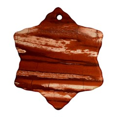 Red Earth Natural Snowflake Ornament (2-Side)