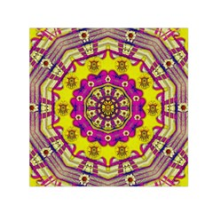 Celebrating Summer In Soul And Mind Mandala Style Small Satin Scarf (Square)
