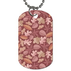 Marsala Leaves Pattern Dog Tag (Two Sides)