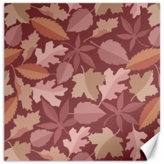 Marsala Leaves Pattern Canvas 12  x 12