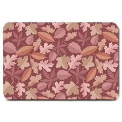 Marsala Leaves Pattern Large Doormat