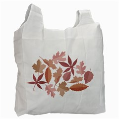Marsala Leaves Pattern Recycle Bag (Two Side)