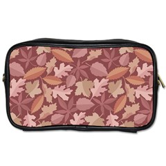 Marsala Leaves Pattern Toiletries Bags 2-Side