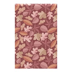Marsala Leaves Pattern Shower Curtain 48  x 72  (Small)