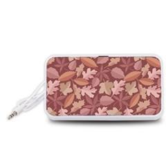 Marsala Leaves Pattern Portable Speaker (White)