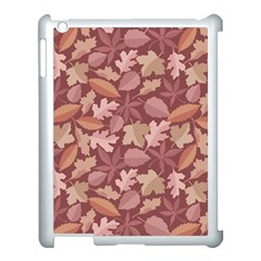 Marsala Leaves Pattern Apple iPad 3/4 Case (White)