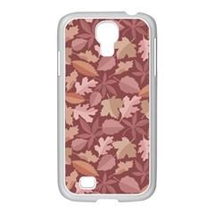 Marsala Leaves Pattern Samsung GALAXY S4 I9500/ I9505 Case (White)