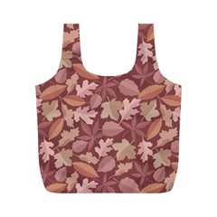 Marsala Leaves Pattern Full Print Recycle Bags (M)