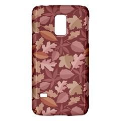 Marsala Leaves Pattern Galaxy S5 Mini