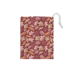 Marsala Leaves Pattern Drawstring Pouches (Small)