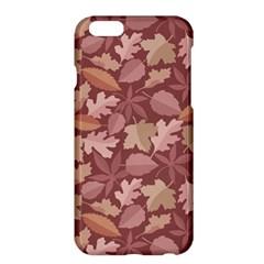 Marsala Leaves Pattern Apple iPhone 6 Plus/6S Plus Hardshell Case