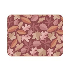 Marsala Leaves Pattern Double Sided Flano Blanket (Mini)