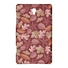 Marsala Leaves Pattern Samsung Galaxy Tab S (8.4 ) Hardshell Case
