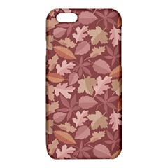 Marsala Leaves Pattern iPhone 6/6S TPU Case