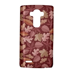 Marsala Leaves Pattern LG G4 Hardshell Case