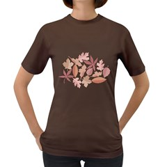 Marsala Leaves Pattern Women s Dark T-Shirt