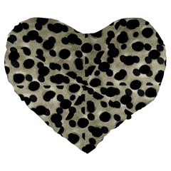 Metallic Camouflage Large 19  Premium Flano Heart Shape Cushions
