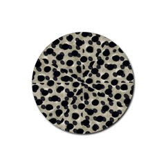 Metallic Camouflage Rubber Round Coaster (4 pack)