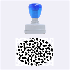 Metallic Camouflage Rubber Oval Stamps