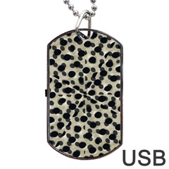 Metallic Camouflage Dog Tag USB Flash (One Side)