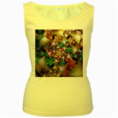 Bright Taffy Spiral Women s Yellow Tank Top