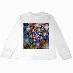 Bright Taffy Spiral Kids Long Sleeve T-Shirts