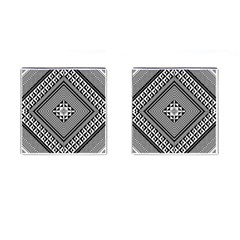Geometric Pattern Vector Illustration Myxk9m   Cufflinks (Square)