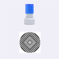 Geometric Pattern Vector Illustration Myxk9m   Rubber Round Stamps (Small)