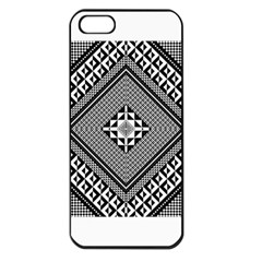 Geometric Pattern Vector Illustration Myxk9m   Apple iPhone 5 Seamless Case (Black)