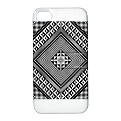 Geometric Pattern Vector Illustration Myxk9m   Apple Iphone 4/4s Hardshell Case With Stand