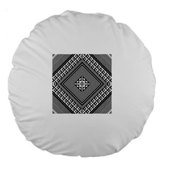 Geometric Pattern Vector Illustration Myxk9m   Large 18  Premium Flano Round Cushions