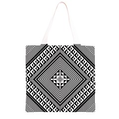 Geometric Pattern Vector Illustration Myxk9m   Grocery Light Tote Bag