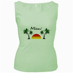 Miami Florida Women s Green Tank Top