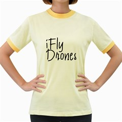 iFly Drones Women s Fitted Ringer T-Shirts