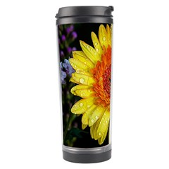 Yellow Flower Close up Travel Tumbler