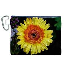 Yellow Flower Close up Canvas Cosmetic Bag (XL)