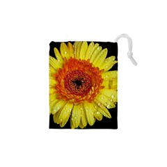 Yellow Flower Close Up Drawstring Pouches (xs)
