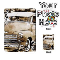 Vintage Chevrolet Pick up Truck Playing Cards 54 Designs