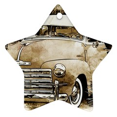 Vintage Chevrolet Pick up Truck Star Ornament (Two Sides)