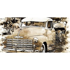 Vintage Chevrolet Pick Up Truck You Are Invited 3d Greeting Card (8x4)
